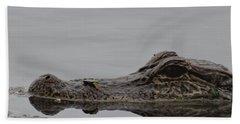 Alligator Eyes Hand Towel by Dan Sproul