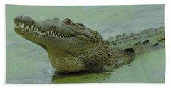 American Crocodile Hand Towel by Raymond Cramm
