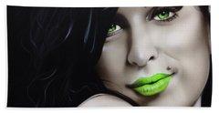 Amy Winehouse - ' Amy Jade ' Hand Towel by Christian Chapman Art