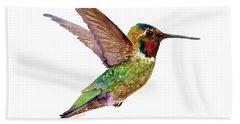 Anna Hummingbird Hand Towel by Amy Kirkpatrick