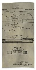 Antique Violin Patent Hand Towel by Dan Sproul