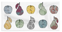 Apples And Pears Hand Towel by Sarah Hough