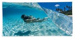 Aqua Dive Hand Towel by Sean Davey