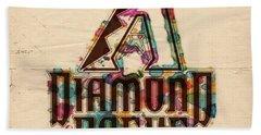 Arizona Diamondbacks Poster Vintage Hand Towel by Florian Rodarte