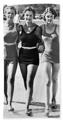 Army Bathing Suit Trio Hand Towel by Underwood Archives