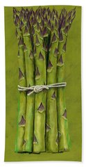 Asparagus Hand Towel by Brian James