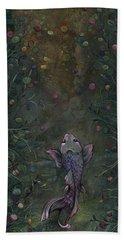 Aspiration Of The Koi Hand Towel by Shadia Derbyshire