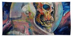 Astronaut Hand Towel by Michael Creese