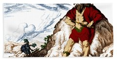 Atlas And Perseus, Greek Mythology Hand Towel by Photo Researchers