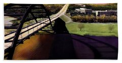 Austin 360 Bridge Hand Towel by Marilyn Hunt