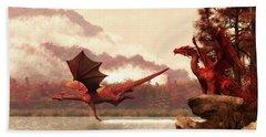 Autumn Dragons Hand Towel by Daniel Eskridge