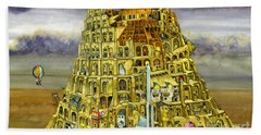 Babel Hand Towel by Colin Thompson
