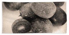 Baby Kiwi Distressed Sepia Hand Towel by Iris Richardson