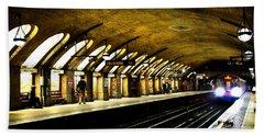 Baker Street London Underground Hand Towel by Mark Rogan