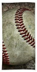 Baseball - A Retired Ball Hand Towel by Paul Ward