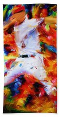 Baseball  I Hand Towel by Lourry Legarde