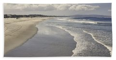Beach At Santa Monica Hand Towel by Kim Hojnacki