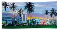 Beautiful South Beach Hand Towel by Jon Neidert