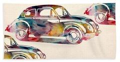 Beetle Car Hand Towel by Mark Ashkenazi