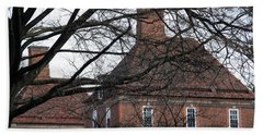 The British Ambassador's Residence Behind Trees Hand Towel by Cora Wandel