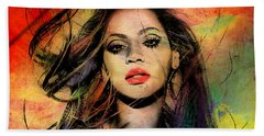 Beyonce Hand Towel by Mark Ashkenazi