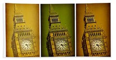 Big Ben Triptych 2 Hand Towel by Stephen Stookey