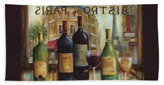 Bistro De Paris Hand Towel by Marilyn Dunlap