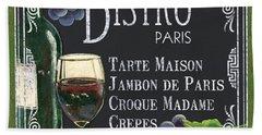 Bistro Paris Hand Towel by Debbie DeWitt