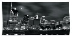 Black And White Nashville Hand Towel by Frozen in Time Fine Art Photography