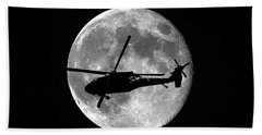 Black Hawk Moon Hand Towel by Al Powell Photography USA