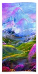 Blue Mountain Pool Hand Towel by Jane Small