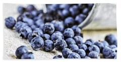 Blueberries Hand Towel by Elena Elisseeva