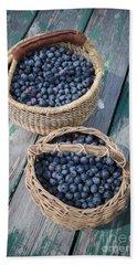 Blueberry Baskets Hand Towel by Edward Fielding