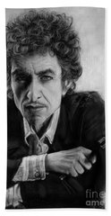 Bob Dylan Hand Towel by Andre Koekemoer