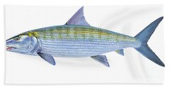 Bonefish Hand Towel by Carey Chen