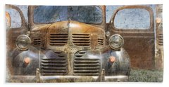 Bonnie And Clyde Hand Towel by Debra and Dave Vanderlaan