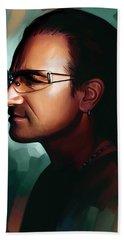 Bono U2 Artwork 1 Hand Towel by Sheraz A