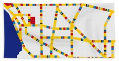 Boogie Woogie Los Angeles Hand Towel by Chungkong Art