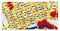 Boogie Woogie Melbourne Hand Towel by Chungkong Art