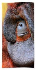 Bornean Orangutan Vi Hand Towel by Lourry Legarde