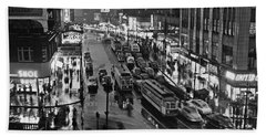 Bronx Fordham Road At Night Hand Towel by Underwood Archives
