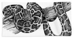 Burmese Python Hand Towel by Roger Hall