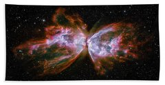Butterfly Nebula Ngc6302 Hand Towel by Adam Romanowicz