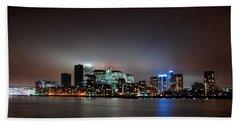 London Skyline Hand Towel by Mark Rogan