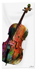 Cello Hand Towel by Mark Ashkenazi
