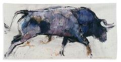 Charging Bull Hand Towel by Mark Adlington
