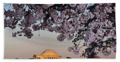 Cherry Blossom Tree With A Memorial Hand Towel by Panoramic Images