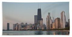 Chicago Morning Hand Towel by Steve Gadomski