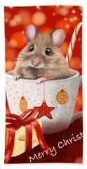 Christmas Cup Hand Towel by Veronica Minozzi