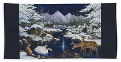 Christmas Wonder Hand Towel by Lynn Bywaters